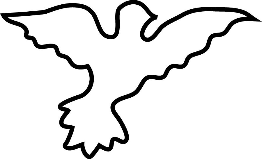 Simple Dove Outline Peace...