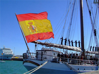 Spanish ship visiting San Diego